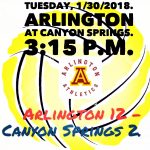 Arlington Water Polo 12-2, over Canyon Springs on Tuesday, 1/30/2018.