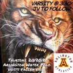 Arlington Water Polo hosts Valley View on Thursday, 2/1/2018.  Varsity at 3:30 p.m.
