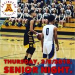 Arlington Boys Basketball Senior Night on Thursday, 2/8/2018.