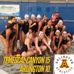 CIF Division V Playoff Game: Temescal Canyon 15 – Arlington 10.