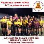 CIF Division V Playoff Game: Arlington wins 6-4 in Penalty Kicks over Hemet on Thursday, 2/15.