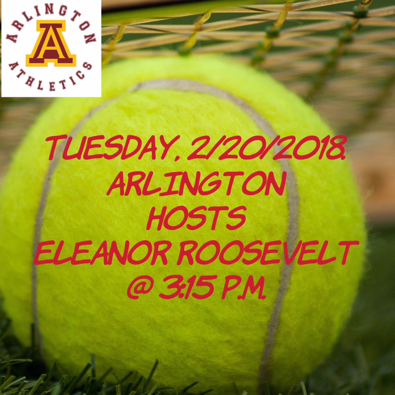 Arlington Boys Tennis hosts Eleanor Roosevelt H.S. on Tuesday, 2/20/2018.