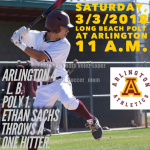 Arlington Baseball 4 -1 over Long Beach Poly on Saturday, 3/3/2018.