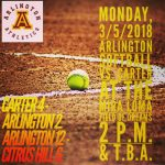 Arlington Varsity Softball splits on Day 1 of Jurupa Valley Tournament.