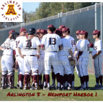 Arlington Varsity Baseball 5 -1 over Newport Harbor on Monday, 3/5/2018.