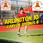 Arlington Tennis 10-8 over Canyon Springs on Monday, 3/12/2018.