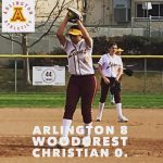 Arlington Softball shut out Woodcrest Christian, 8-0, on Monday, 3/12/2018.