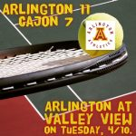 Arlington Tennis defeats Cajon/San Bernardino, 11-7, on Monday, 4/9.