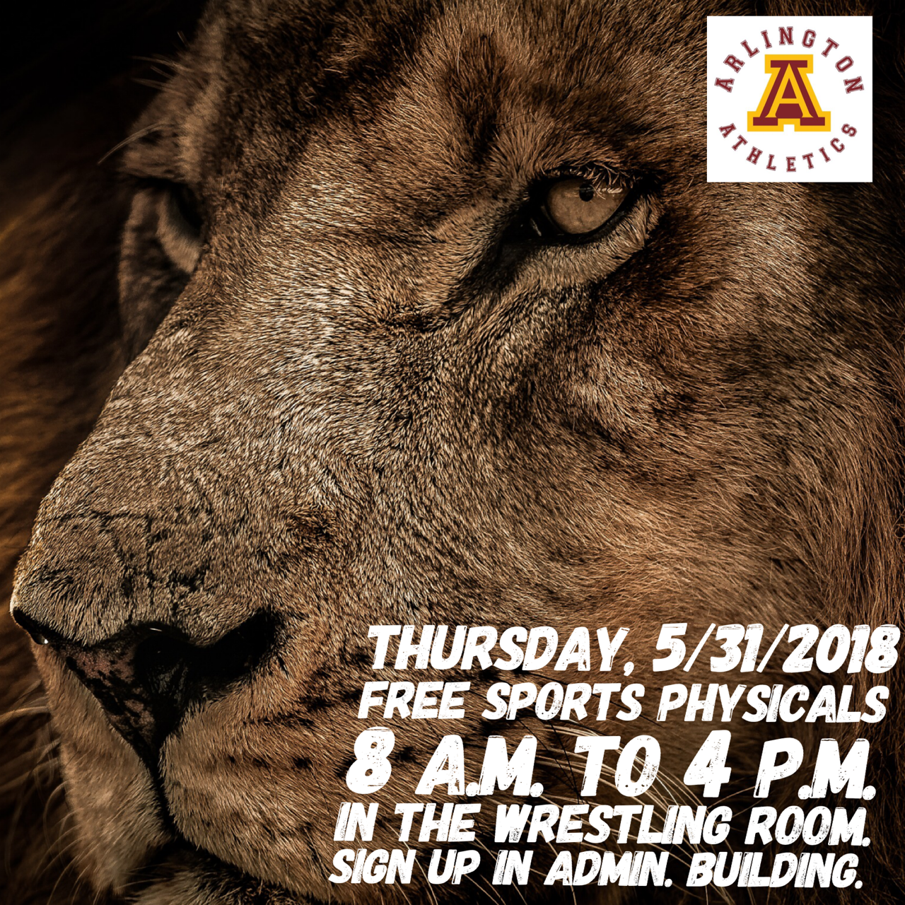 FREE RUSD Sports Physicals at Arlington H.S. Thursday, 5/31, from 8 a.m. to 4 p.m.