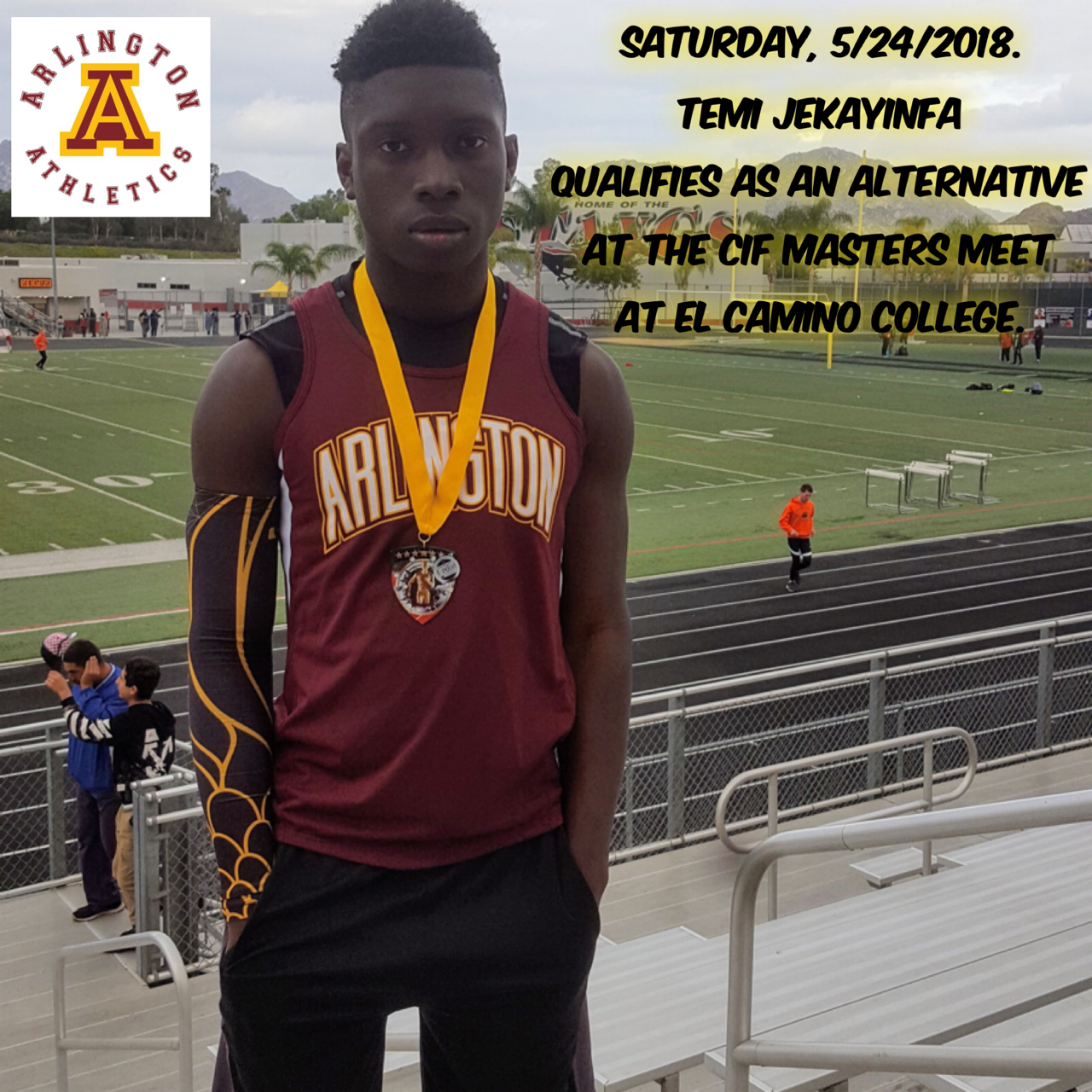 CiF Masters Meet: Track and Field at El Camino College, Saturday, 5/26.