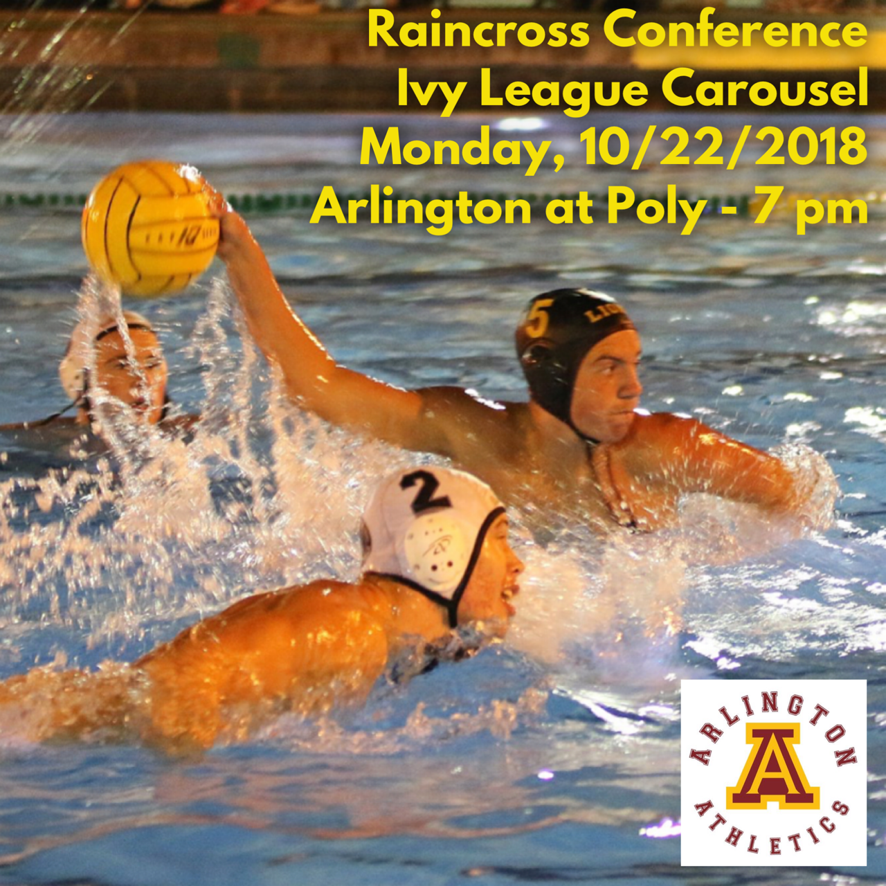 Monday, 10/22/18: Ivy League Water Polo Carousel at Poly – 7 p.m.