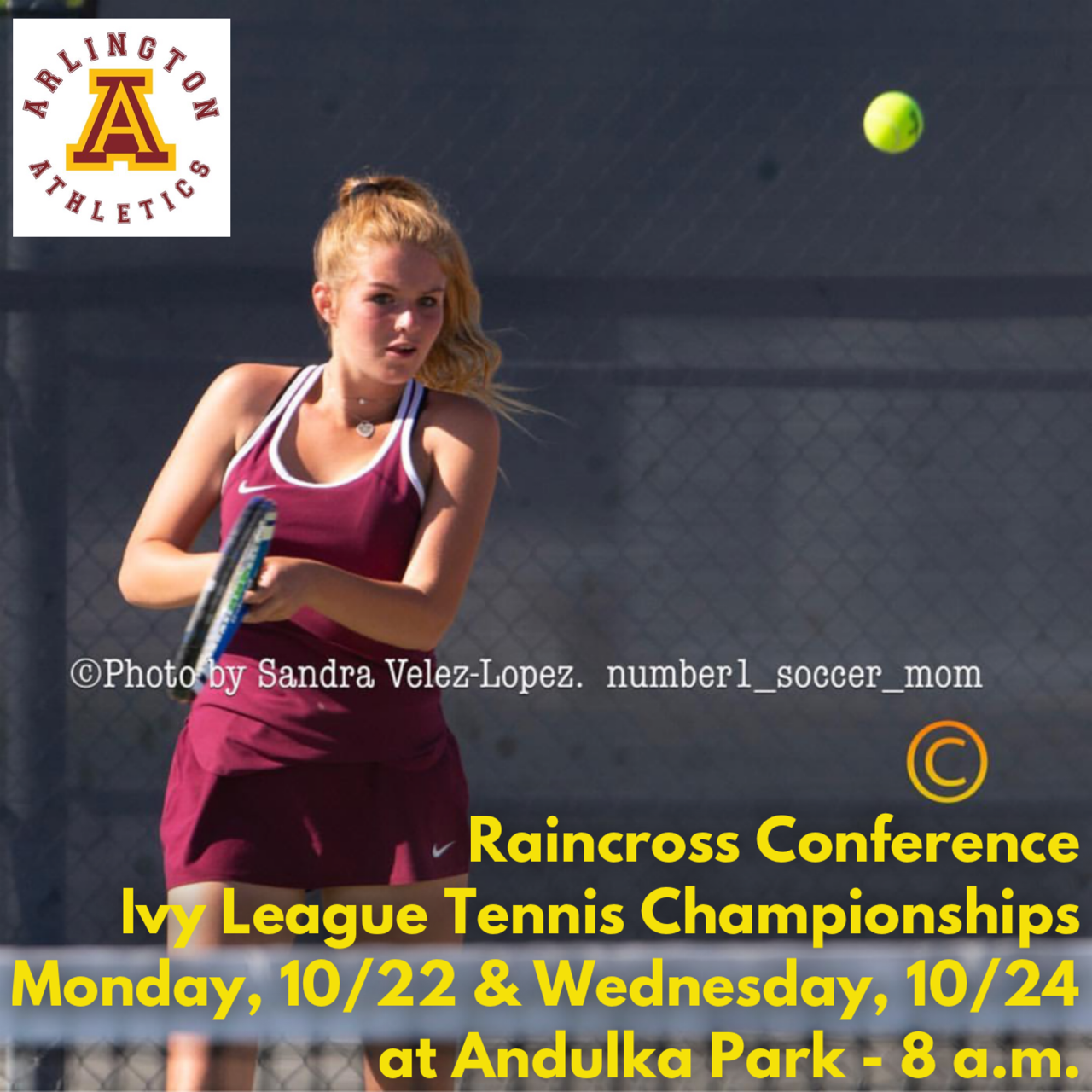 Monday, 10/22/18: Ivy League Tennis Prelims at Andulka Park – 8 a.m.
