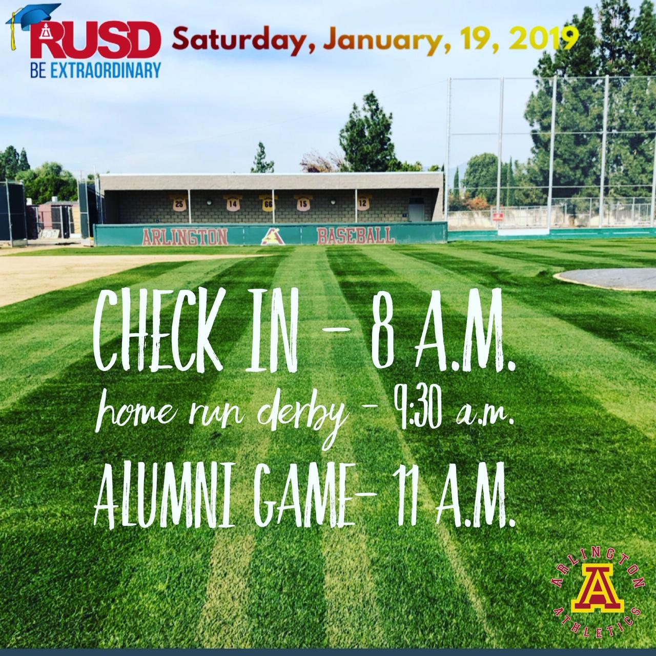 Saturday, 1/19/2019: Arlington Baseball Alumni Game