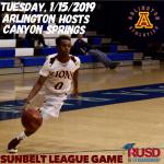 Tuesday, 1/15/2019: Arlington Boys' Basketball hosts Canyon Springs