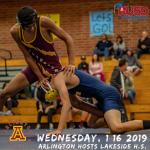 Wednesday, 1/16/2019: Arlington Wrestling hosts Lakeside – J.V. @ 5 p.m. Varsity @ 6 p.m.