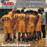 Thursday, 1/17/2019: Arlington Boys' Basketball at Heritage