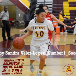 Tuesday, 1/22/2019: Arlington Girls' Basketball at Notre Dame/Riverside