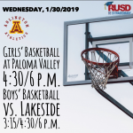 Wednesday, 1/30/2019: Arlington Basketball Update