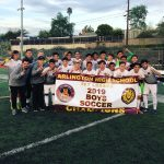 Arlington Boys' Soccer wins the 2019 Ivy League Championship on Monday, 1/28/2019 with a 2-1 win at Poly.