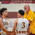 CiF Division 4A First Round Game: Arlington Boys' Basketball at Pomona Friday, 2/8. Pomona 61 – Arlington 51.