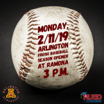 Monday, 2/11/2019: Arlington Frosh Baseball at Ramona – 3 p.m.