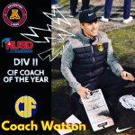 REMEMBER THE NAME: Coach Watson