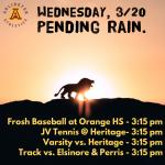 Wednesday, 3/20/2019: Sports Update