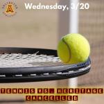 Wednesday, 3/20: Arlington Boys' Tennis vs. Heritage – POSTPONED