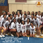 Wednesday, 4/10: Arlington Cheer hosts Elsinore @ 5 p.m. and Paloma Valley @ 7 p.m.