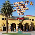 Pre-Sale Tickets Available Now for Arlington Varsity Baseball vs. J.W. North at San Manuel Stadium on Saturday, 4/13, at 4 p.m.