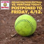 Friday, 4/12/2019: Arlington Frosh Softball Update