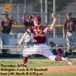 Thursday, 4/11/2019: Arlington Baseball Update