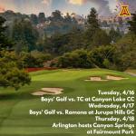 Tuesday, 4/16/2019: Arlington Boys' Golf Update