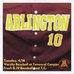 Tuesday, 4/16/2019: Arlington Baseball Update