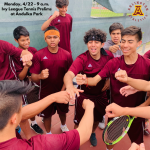Monday, 4/22: Arlington Tennis at Ivy League Finals at Andulka Park – 9 a.m.