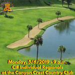 Monday, 5/6: Arlington Boys' Golf at CiF Prelims at the Canyon Crest Country Club – 9 a.m.