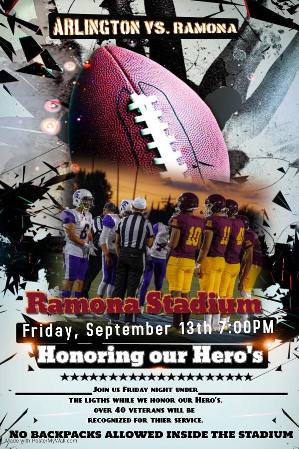 Lions vs. Rams Tonight 7:00PM Ramona Stadium