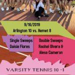 Girls Tennis defeat Hemet 10-8