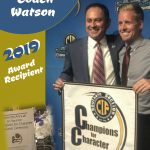 Coach Watson 2019 recipient of the CIF Champions of Character Award