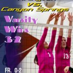 Volleyball defeats Canyon Springs