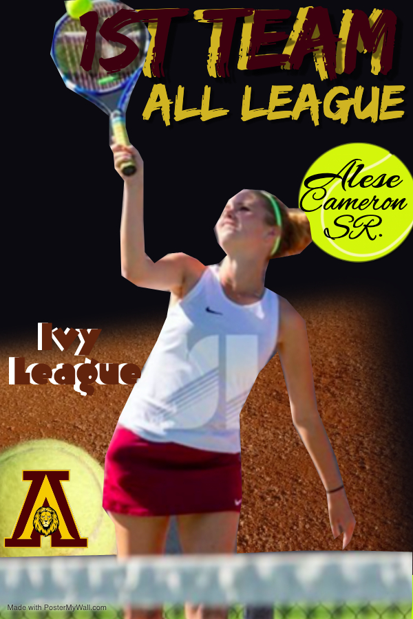 Tennis honors Alese Cameron: 1st team All-League
