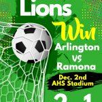 Boys Soccer Arlington vs Ramona