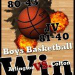 Boys Basketball vs. Colton