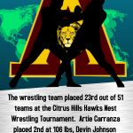Wrestling placed in Top 25