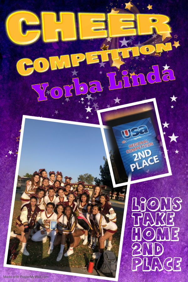 Arlington Competition Cheer team takes 2nd in USA competition – Yorba Linda