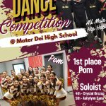 Dance Team Competes At Mater Dei – 1st Palce in POM!