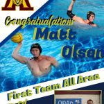 Congratulations to Matt Olsen – 3rd time All Area Team Selection