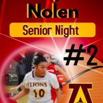 Girls Basketball recognizes lone senior Aaliyah Nolen during Senior Night.