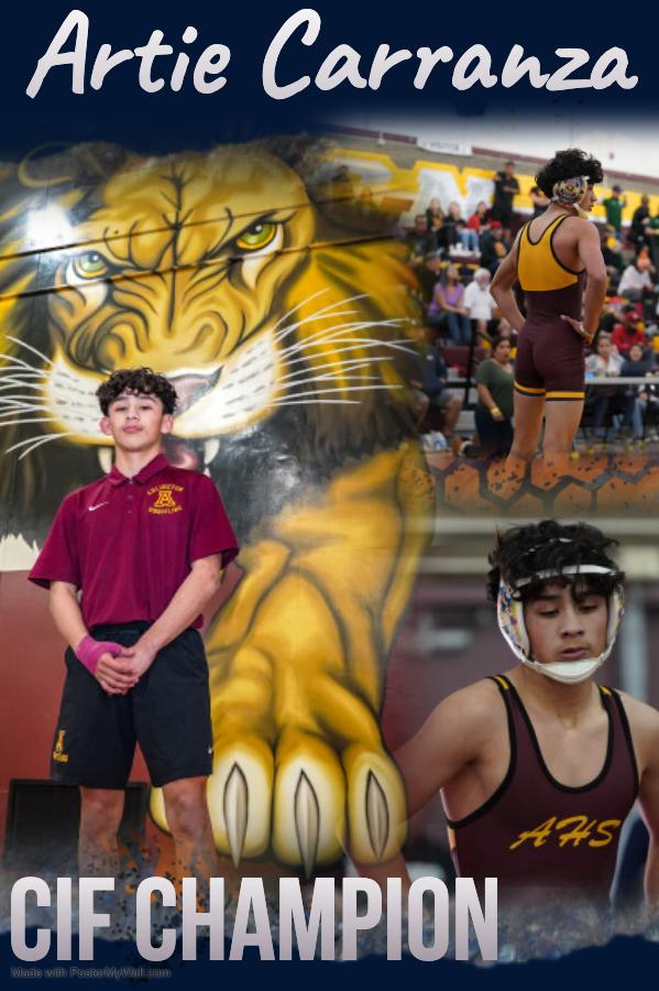 Artie Carranza- CIF Champion