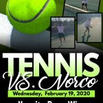 Tennis vs. Norco 18-0 WIN